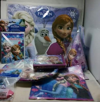 Disney Frozen Birthday Party Pack - Plastic(Multicolor)