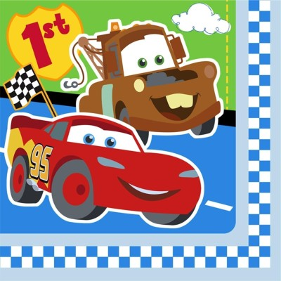 Disney Cars 1st Birthday Party Supplies - Plastic(Multicolor)