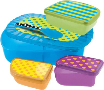 Sassy On the Go Feeding Set  - Plastic(Multicolor)