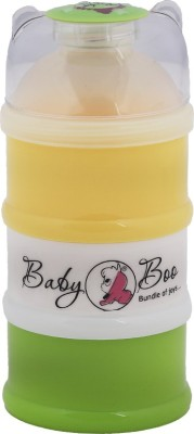 BABY BOO Milk powder 3 layer container  - FOOD GRADE PLASTIC, BPA FREE(Yellow, White, Green)