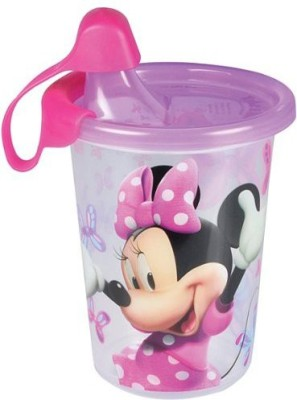 The First Years Minnie Mouse Take And Toss Sippy Cup  - Plastic(Purple, Pink)