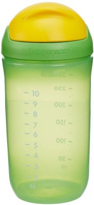 Tupperware Twinkle Straw Tumbler 350 ml  - Plastic, Silicon(Green)