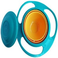 Connectwide Gyro Magic Bowl 360 Rotate Spill Proof  - Plastic(Blue, Orange)