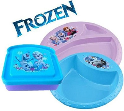 Disney Frozen Lunch and Dinner Set - Plastic(Blue, Purple)