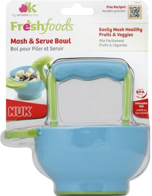 NUK Freshfoods Mash & Serve Bowl  - DURABLE PLASTIC