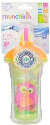 Munchkin Click Lock Insulated Straw Cup  - Plastic(Multi Colour)
