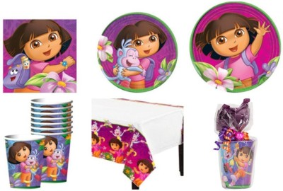 Disney Dora The Explorer Party Supplies Standard Kit - Plastic(Multicolor)