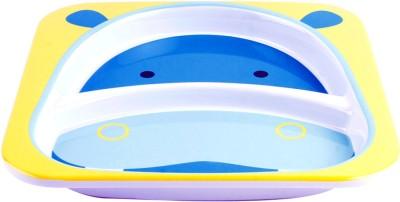 Skip Hop Skip Hop Zoo Divided Plate - Hippo  - Food Grade Plastic