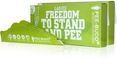 PeeBuddy Disposable, Portable Female Urinary Device for Women (40 Funnel - 1 Pack) by SIRONA Disposable Female Urination Device(Green, Pack of 40)