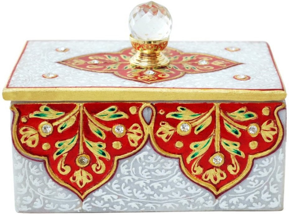Handicrafts Paradise HPMR14106 Marble Gift Box(Multicolor)