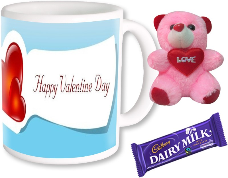 PhotogiftsIndia happy valentine day combo 066 Ceramic Gift Box(Multicolor)