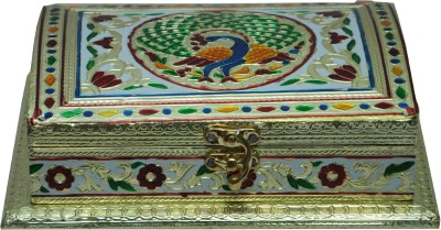 Pavitra Mandir HT-MI-DB-RECTANGLE Plastic, Aluminium Gift Box