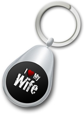 Shoppers Bucket Love Wife Circle Keychain Key Chain