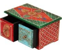 Shreeng Horizontal Embossed wooden box(Pack of 1)