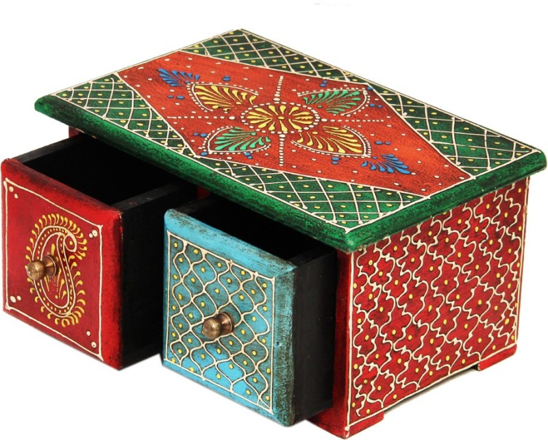 Shreeng Horizontal Embossed wooden box(Pack of 1)