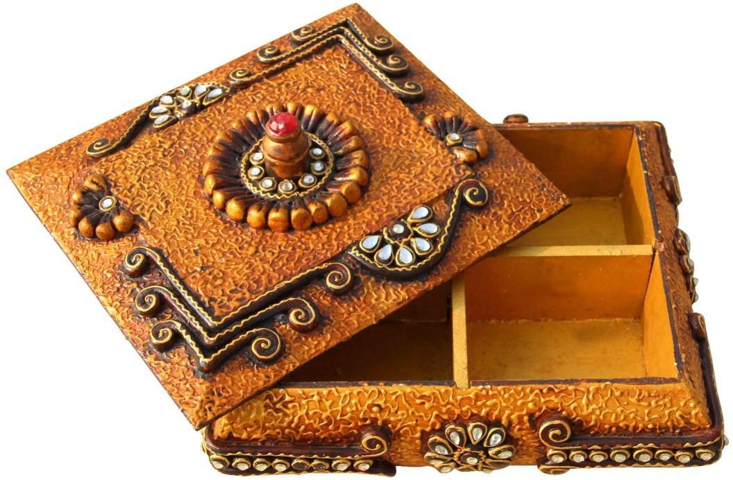 Handicrafts Paradise PMA16545 Wooden Gift Box(Brown)