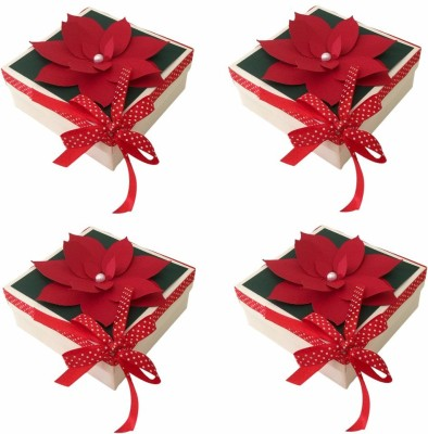 Crack of Dawn Crafts Xmas_1 Paper Gift Box(Red, Green)
