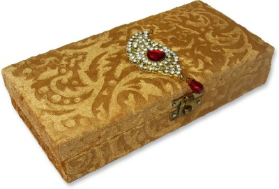 WeddingPitara Cash Velvet Wooden Gift Box
