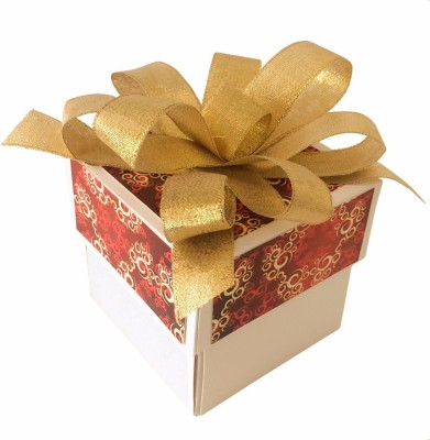 Crack of Dawn Crafts Xmas_14 Paper Gift Box(Red, Gold)