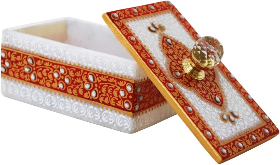 Handicrafts Paradise HPMR14107 Marble Gift Box(Multicolor)