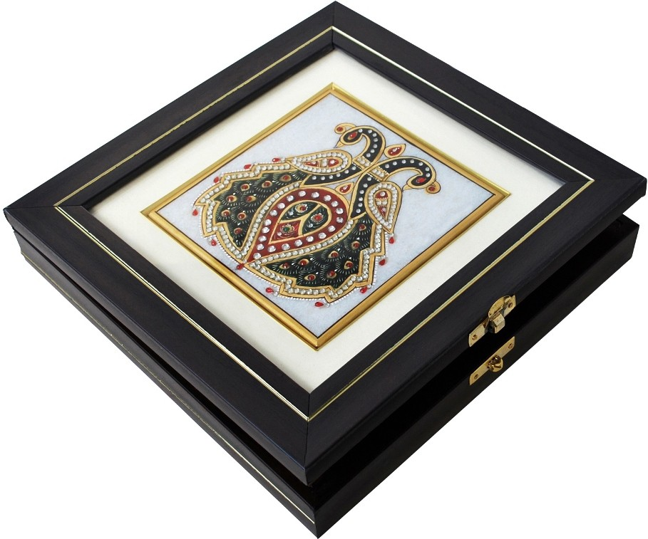 Handicrafts Paradise HPMR14112 Marble Gift Box(Multicolor)
