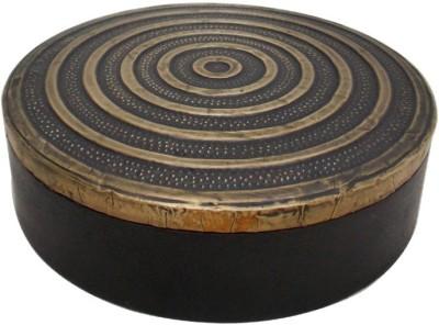 Indune Lifestyle Round Box Wooden, Brass Gift Box