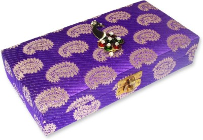 WeddingPitara Cash Brocade Wooden Gift Box