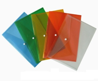 Y.E.S Executive Series Polypropelene Button Folder(Set Of 5, Green, White, Orange, Yellow, Red)