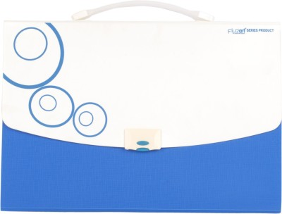 DataKing Polypropylene Expanding File With 13 Pockets, Size FC, Color : Blue, Free Delivery.