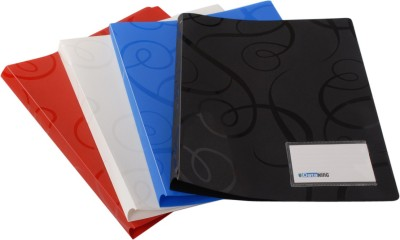 DataKing Polypropylene Report File With Spring Clip, Size A 4, Color: Multi, Free Delivery.