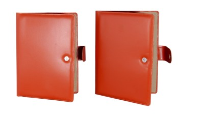MagPie Faux Leather Conference Folder Set of 2 (Tan Color)