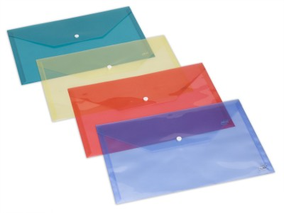 Trio MF301F PP Document Envelope Button FC(Set Of 10, Multicolor)