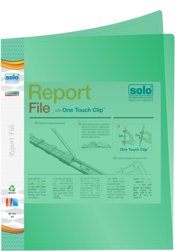 Solo Report File(Set Of 10, Green)
