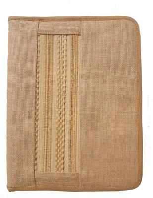 Art Craft jute and bamboo jute and bamboo zip folder