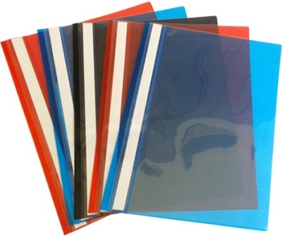 Gridaxe Regular Plus High Quality Plastic File Folder(Set Of 5, Multicolor)