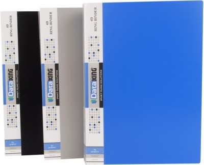 DataKing Polypropylene 4D RING BINDER, Set Of 3, Size: FC, Color: Multi.