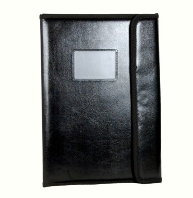 MagPie Faux Leather File Folder with Magnetic Button