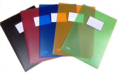 Y.E.S Executive Series Polypropelene Thick L-Folder (5pcs)(Set Of 5, Green, Blue, Red, Orange, Balck)