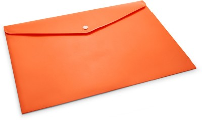DataKing Polypropylene My Clear Bag With Line Embossing, Size FC, Color: Orange, Free Delivery.