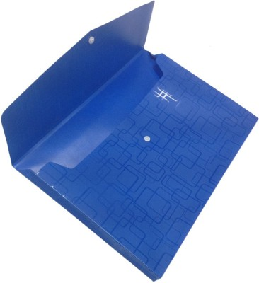 Y.E.S Corporate Series Polypropelene Folder(Set Of 5, Blue Multicolor)