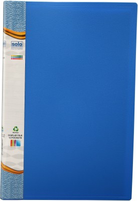 Solo Display File(Set Of 4, Blue)