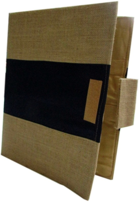 Indha Craft Jute & Silk Paper Conference Files(Set Of 1, Brown)