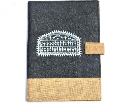 Art Godaam Hand made paper Cover folder(Set Of 1, Black)