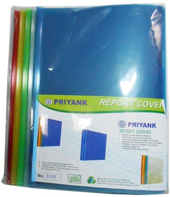 ZakTag Plastic Priyank Report Cover Stick files (pack of 10)