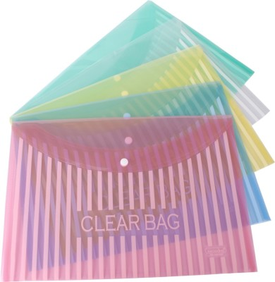 Dataking Polypropylene My Clear Bag With Linear Printing - Multi Color