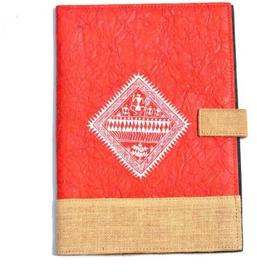 Art Godaam Hand made paper Cover folder(Set Of 1, Red)