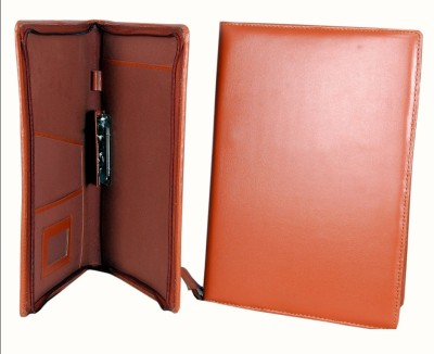 MagPie Faux Leather Conference Folder (Brown) Set of 2