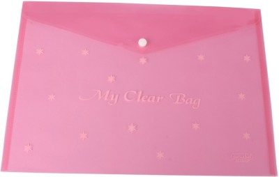 DataKing Polypropylene My Clear Bag With Star Print