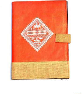 Art Godaam Hand made paper Cover folder(Set Of 1, Orange)