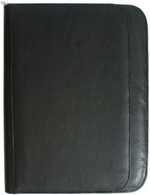 Zaktag Leather Black Conference Folder with Calculator inside